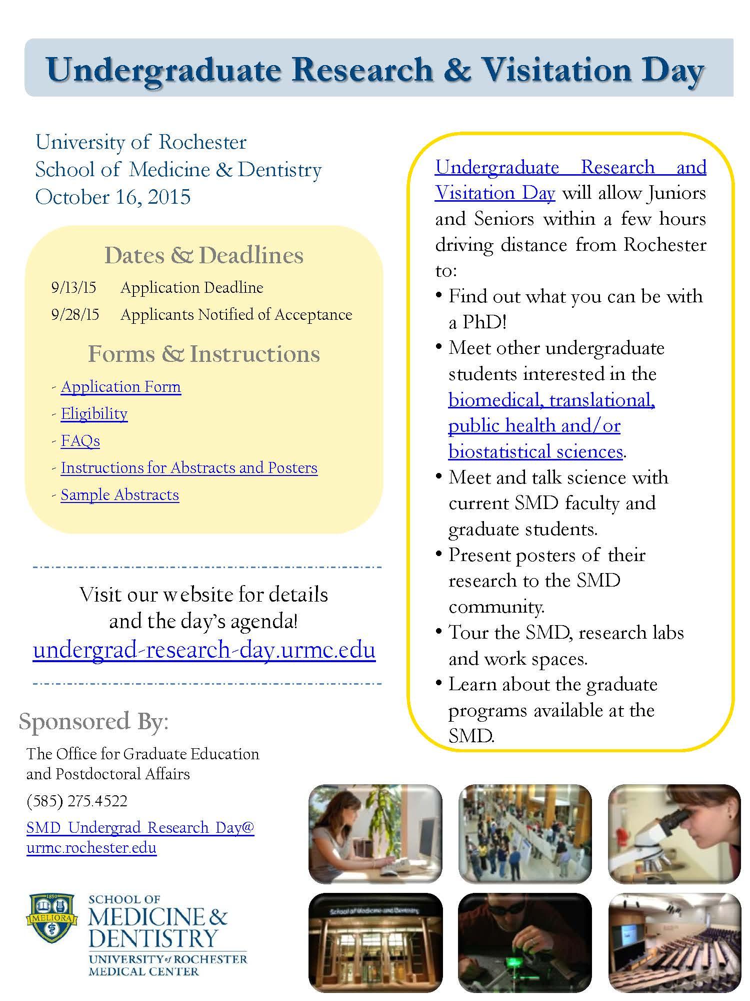Undergraduate Research & Visitation Day | CWRU Chemistry