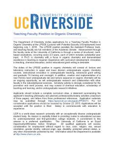 UCR Ad 2015 LPSOE Teaching